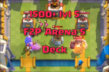 Zap Bait Hog Clash Royale Arena 5 Deck Valkyrie And