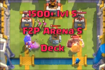 clash royale arena 5 deck