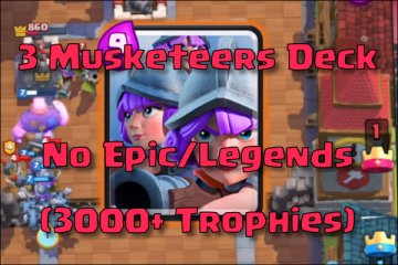 clash royale three musketeers deck